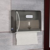 英特汉莎 纸巾架 卫生间 挂式塑料擦手纸盒 纸巾盒 手抽纸盒 擦手纸架D81016