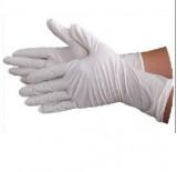 IKENO一次性防滑性丁腈手套B7加厚加长型白色食品级手套 实验室/清洁操作
