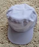 白色食品厂用网帽 苏州食品帽 带发网鸭舌帽