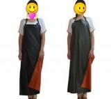 爆款黑红防水围裙pvc围裙防弱酸弱碱防水围裙家务清洁防水围裙