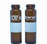 上海安谱 进样瓶 CNW 18-400螺纹口棕色15mL样品瓶(带书写)
