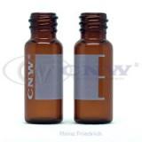 上海安谱 样品瓶 CNW 8-425棕色螺纹口自动进样瓶(带刻度、书写)