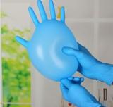 紫羲一次性蓝色丁晴手套 NBR丁腈手套 耐用丁腈手套 食品级手套