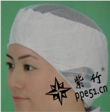 批发劳保用品 布帽子 透气型食品帽 女工网帽 工作帽 白色防尘帽