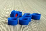 9mm蓝色短螺纹开口盖组合盖垫,2mL样品瓶用盖垫供应,厂家特卖