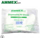 AMMEX爱马斯PGLOVE100C-2一次性PE薄膜手套(无粉),食品级PE手套