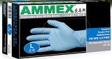 AMMEX爱马斯食品级一次性蓝色丁腈手套无粉、麻面