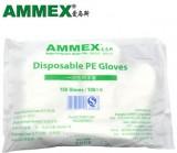 AMMEX爱马斯一次性食品级PE薄膜手套(无粉)一箱价,100只/袋,50袋/箱