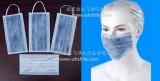 批发一次性白色、蓝色无纺布活性炭口罩