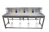 304食品级不锈钢脚踏式洗手池 洗手消毒双水槽 食品厂GMP车间专用