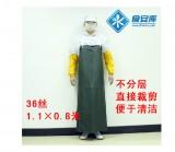 耐磨 防水 防油耐酸碱 pvc围裙 食品工厂家居水作业工作服 36丝