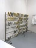 可吸气不锈钢工作鞋放置架子 便鞋 工人靴鞋 架  按米计算1438元每米