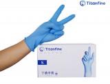 泰能一次性蓝色丁腈手套常规款 食品餐饮专门 化学实验室 清洁操作 防滑无粉全麻