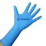 包邮泰能加长一次性蓝色丁腈手套 食品级加工餐饮类 化学实验室 全麻无粉