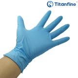 包邮泰能一次性蓝色丁腈手套加厚型耐用防滑 食品加工 实验室 100只/盒