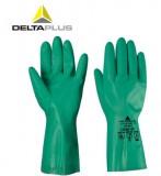代尔塔201801 -1防化丁腈手套 防化劳保手套 丁腈涂层耐用