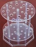 有机玻璃旋转式圆盘吸管架 有机玻璃吸管架 移液管架 移液吸管架