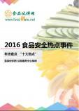 2016食品安全十大热点事件盘点