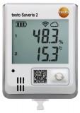 德国德图 testo Saveris 2-H1 - 无线数据记录仪带显示屏和内置温度湿度探头